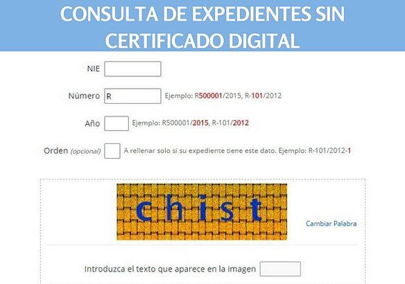como va lo mio - Consulta expediente de nacionalidad española por residencia sin certificado digital